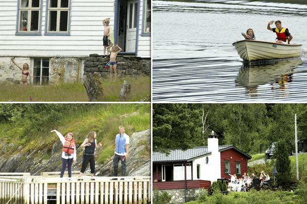 Acogida a los turistas en Noruega.