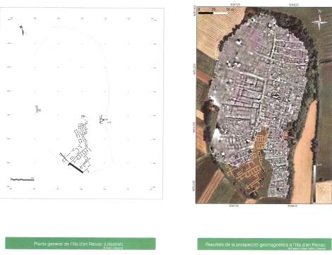 Imatge obtinguda amb georradats del jaciment on es veu tota la trama urbana.