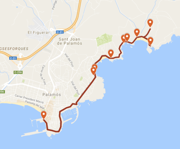ruta palamós